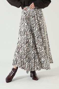 アニマルプリーツスカート