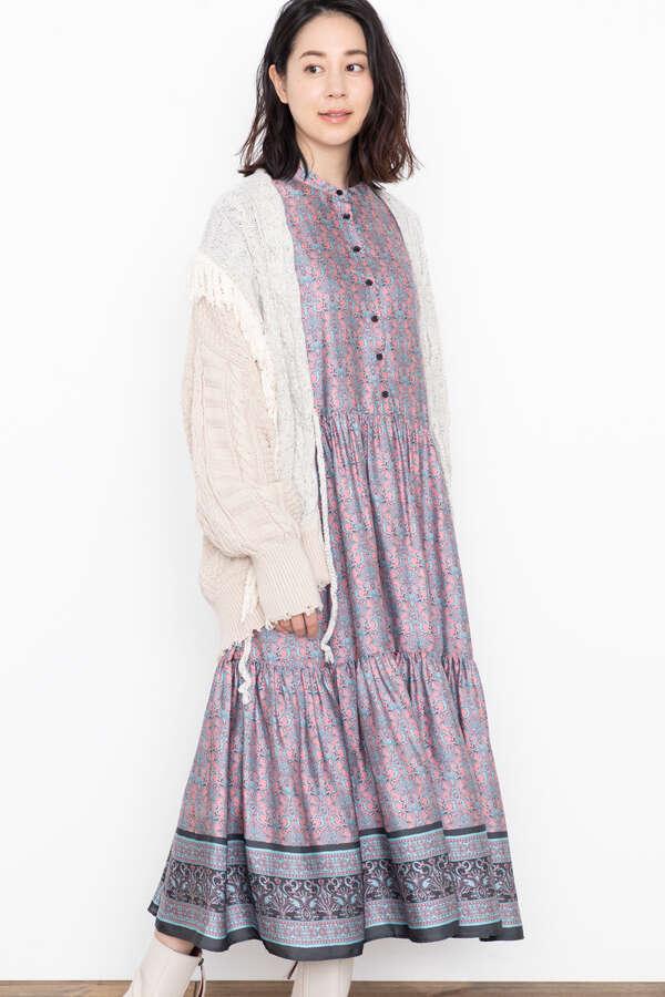 <WEB限定>エスニックモチーフドレス