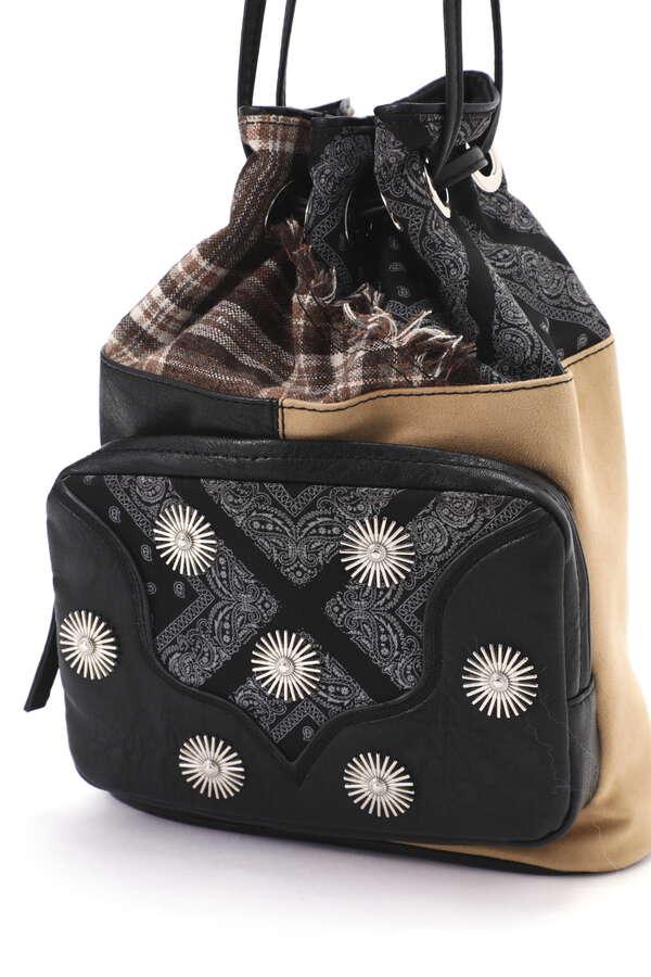 <WEB限定>【DREAM COLOR DEPOT別注】パッチワーク巾着バッグ