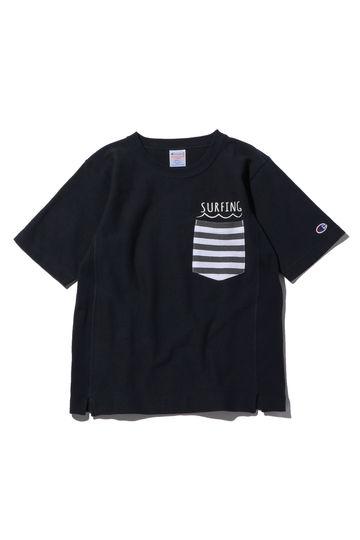 [CHAMPION]別注ポケット付き半袖Tシャツ