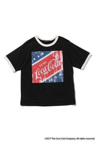 [コカ・コーラ別注]プリントリンガーTシャツ