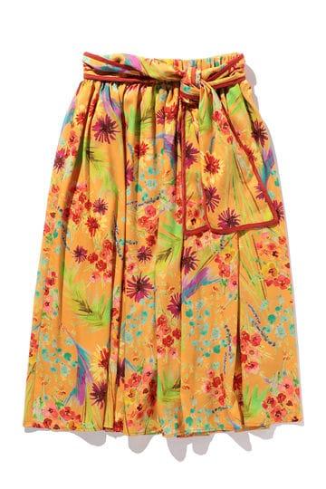 トロピカルプリントスカート