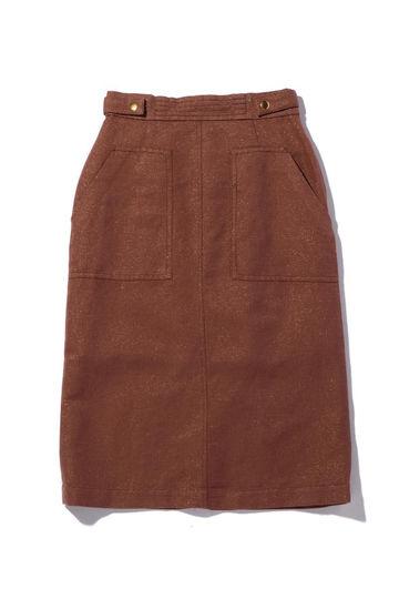 麻混ベイカー風スカート
