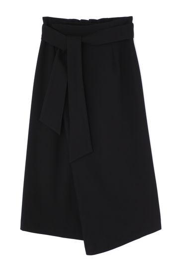 リボンベルトラップスカート