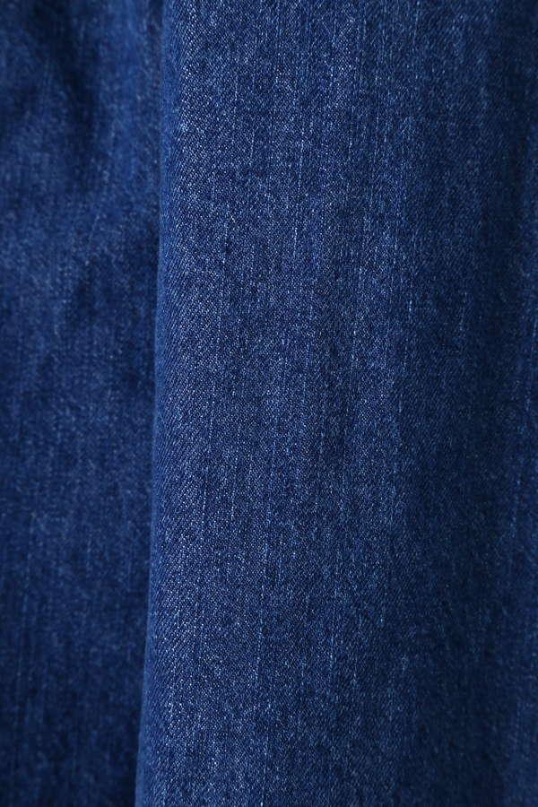 フレアデニムロングスカート