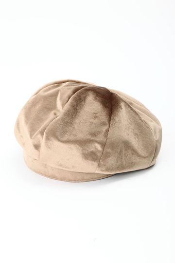 ベロア調ベレー帽