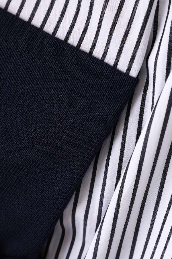ビスチェ付抜き襟シャツ