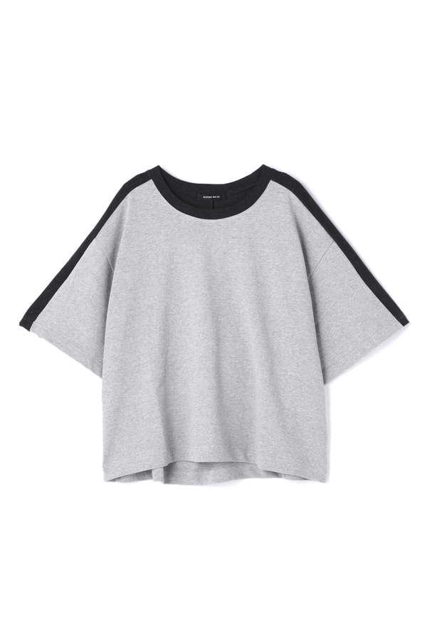 配色ラインビッグTシャツ