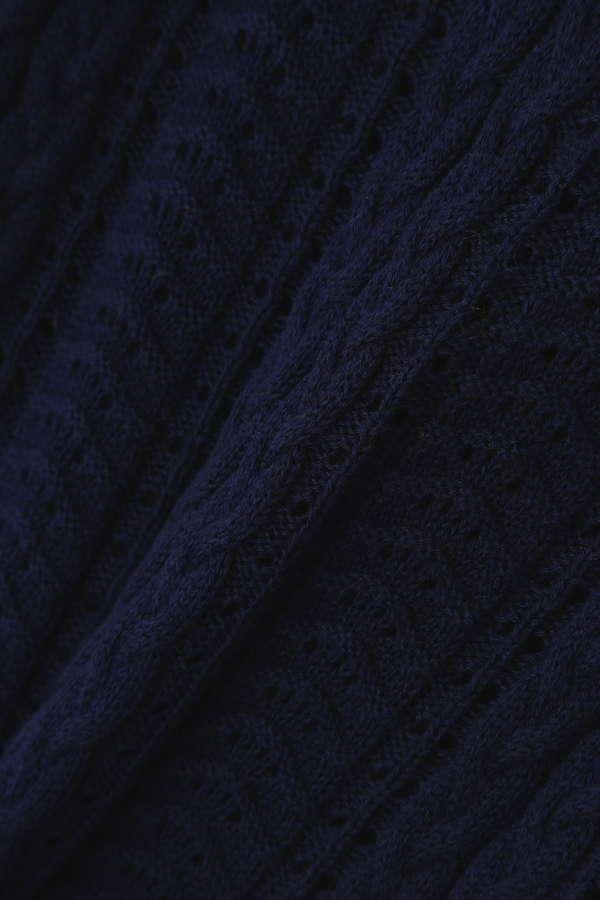 レース編みフリルニット