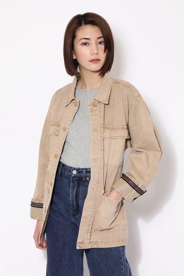デザインベルト付ミリタリージャケット