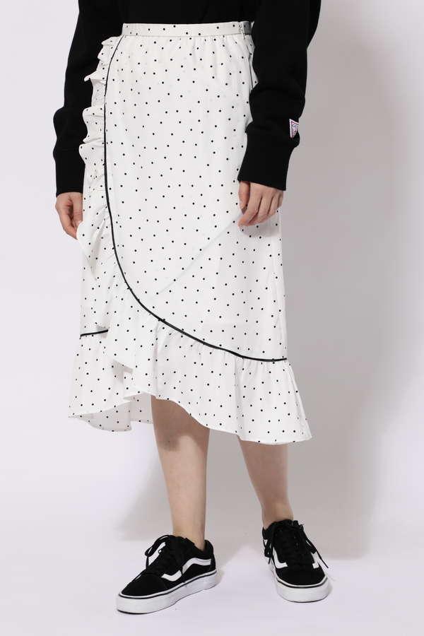 ラッフルフリルラップスカート