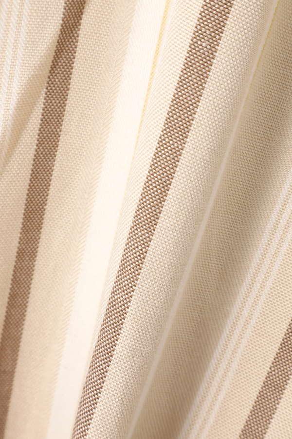 ウエストリボンストライプマキシスカート