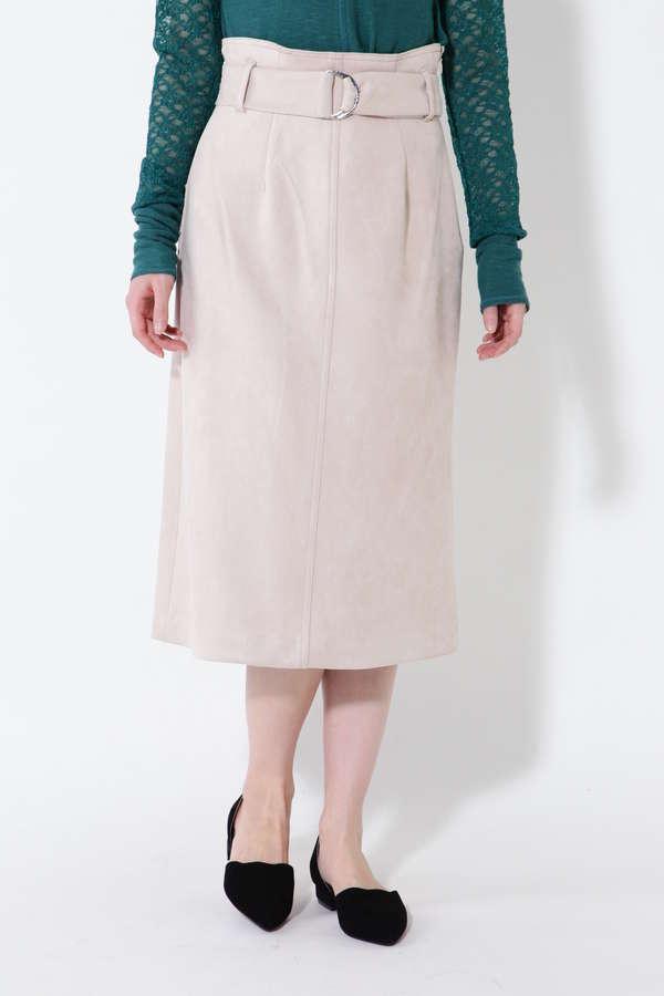 ベルト付タイトスカート