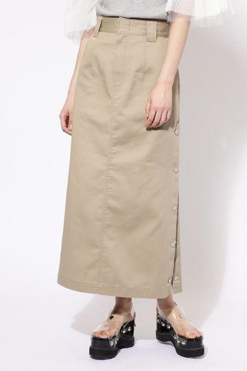 【ROSEBUD別注】Dickiesサイドボタンロングスカート