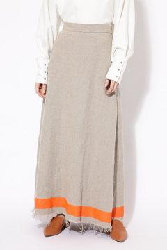 ライン麻マキシスカート