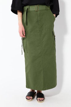 デニムミディ丈スカート