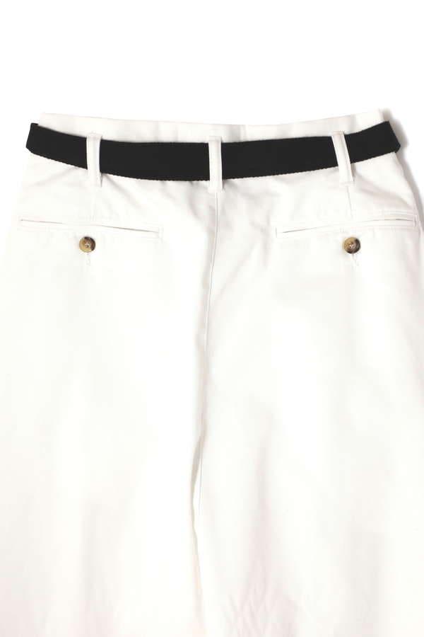 ベルト付ワイドラップスカート