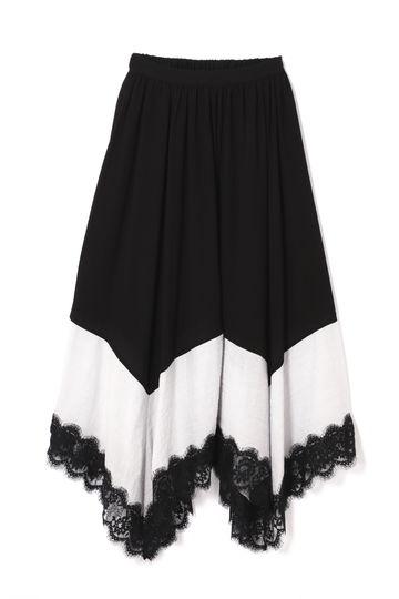 【先行予約 5月中旬-下旬入荷予定】裾レースギャザーフレアスカート