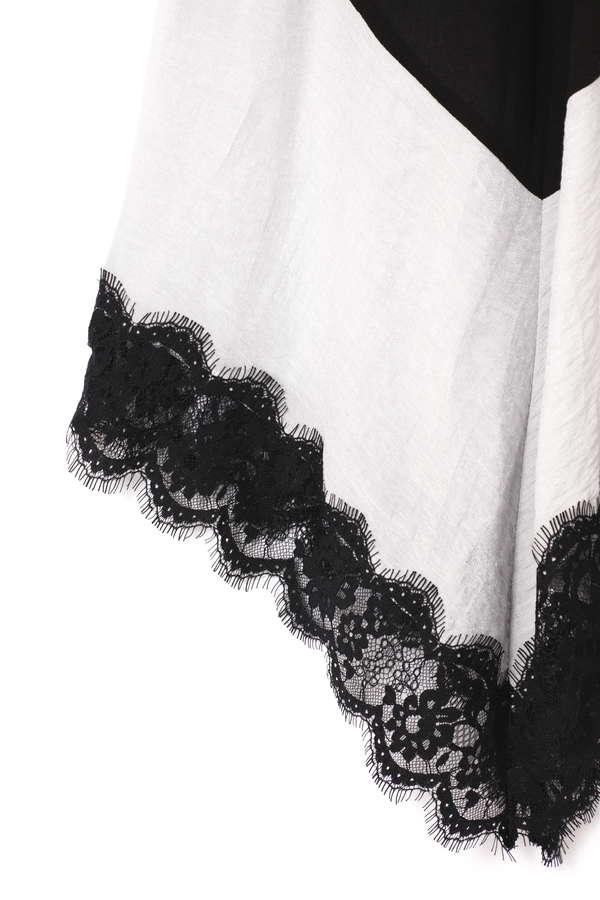 裾レースギャザーフレアスカート
