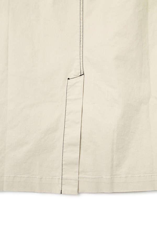 サイドスナップボタンステッチスカート
