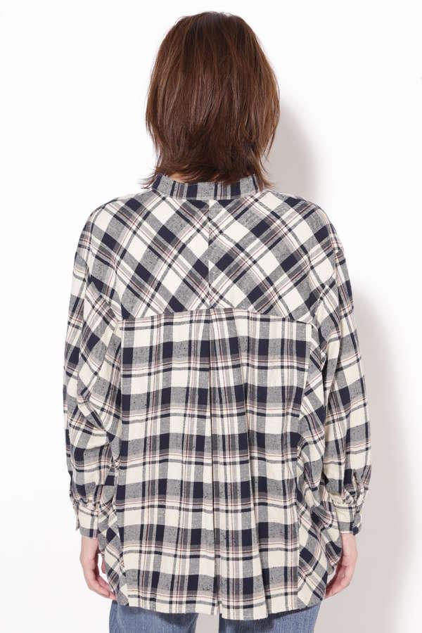 カラーレスチェックネルシャツ