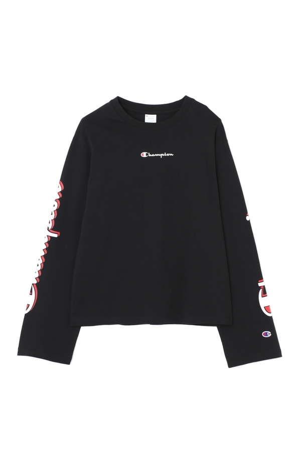【ROSE BUD別注】CHAMPIONロゴスリーブロングTシャツ