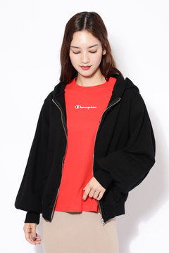 BIG SLEEVE HOODED ZIP PARKA