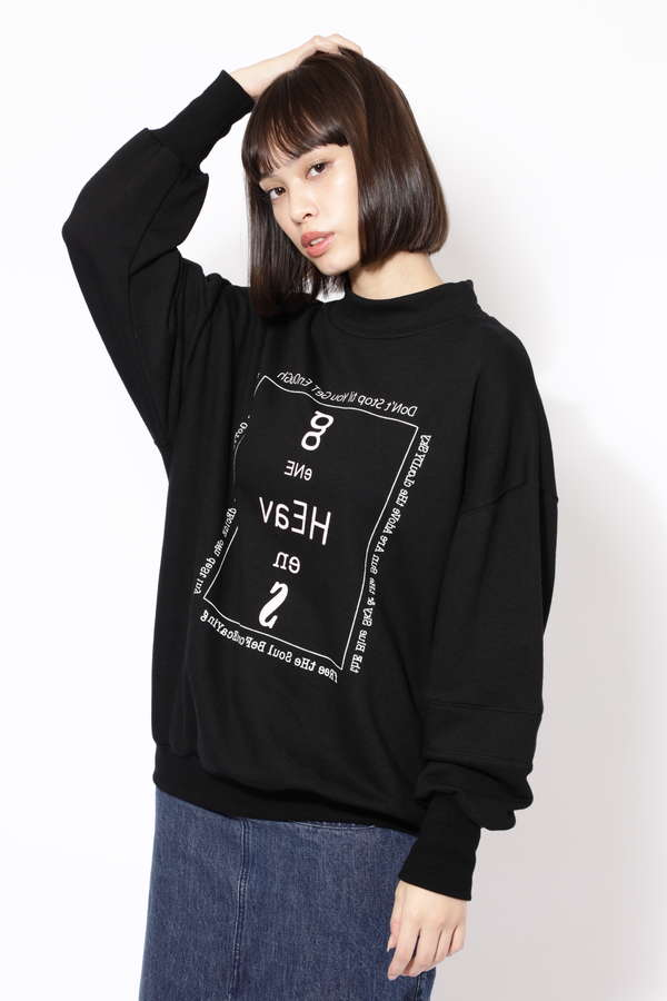 HEACENS LOGO HI NECK SWEAT