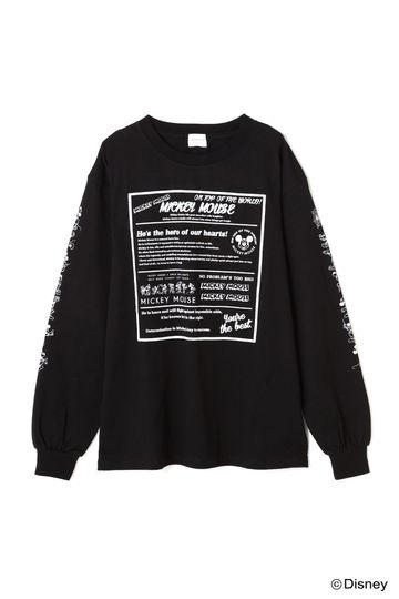 【disney】ロゴグラフィックロングTシャツ