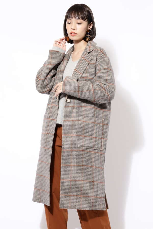 [and GIRL12月号掲載]リバーシブルチェスターコート