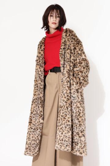 【先行予約 10月中旬-下旬入荷予定】レオパードプリントコート