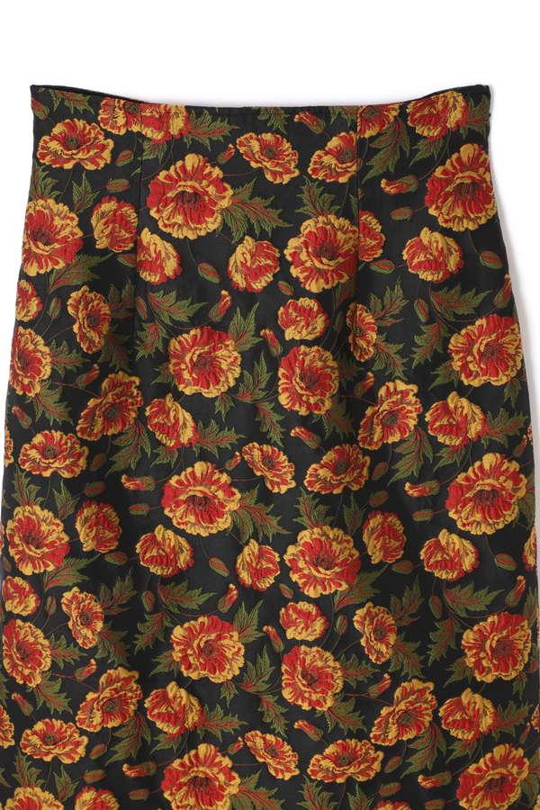 【先行予約 10月中旬-下旬入荷予定】フラワージャガードスカート