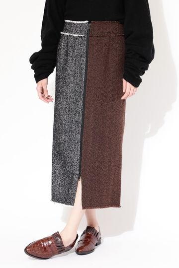 【先行予約 10月中旬-下旬入荷予定】ヘリンボーンストレートスカート