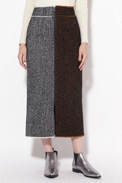 ヘリンボーンストレートスカート