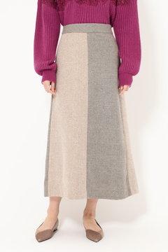 配色スカート