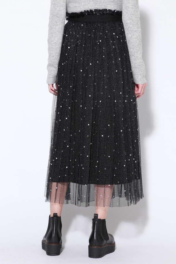 星柄チュールラップスカート