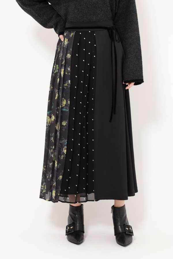 プリントミックススカート