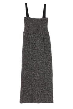 ケーブル編みジャンパースカート