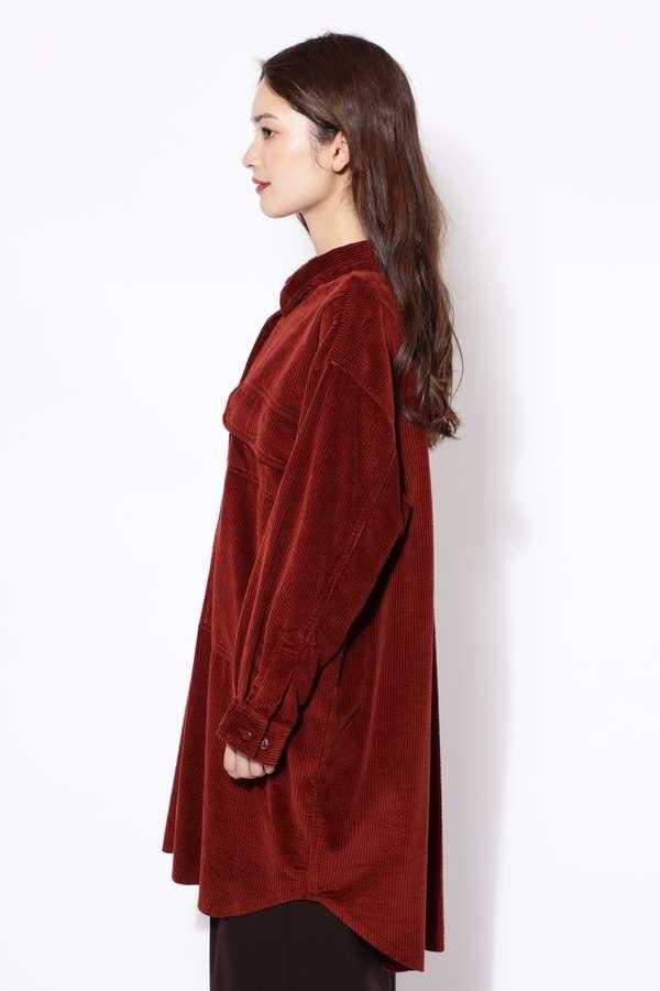コーデュロイワークシャツドレス