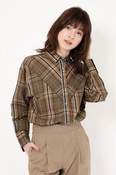 【先行予約 3月上旬‐中旬入荷予定】リネン混チェックシャツ