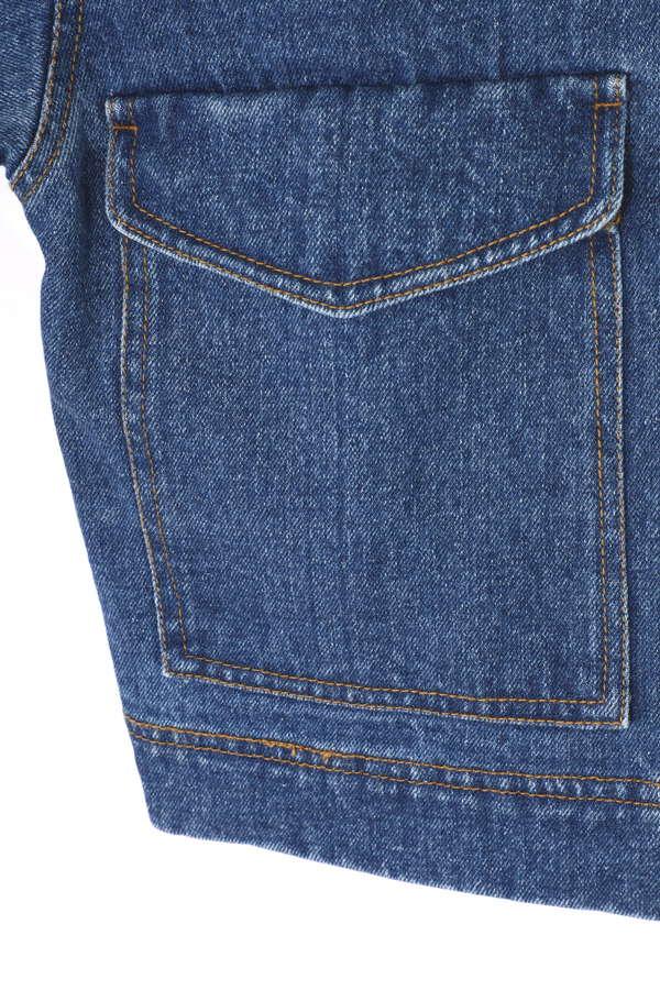 後ろ開きビッグポケットデニムジャケット