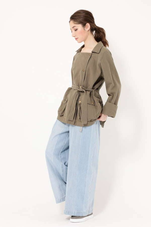 FRILL BACK MIRITALY  TRENCH JACKET