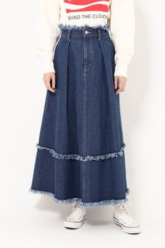 【先行予約 1月中旬-下旬入荷予定】フレアデニムスカート