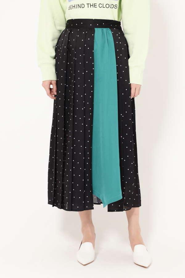 プリントプリーツスカート