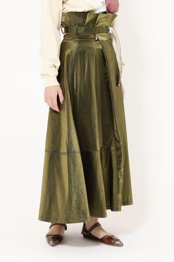 【先行予約 3月下旬-4月上旬入荷予定】ハイウエストラップディテールスカート