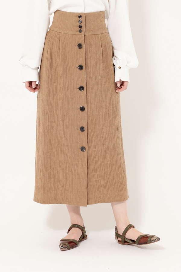 【先行予約 3月上旬-中旬入荷予定】フロントボタンスカート
