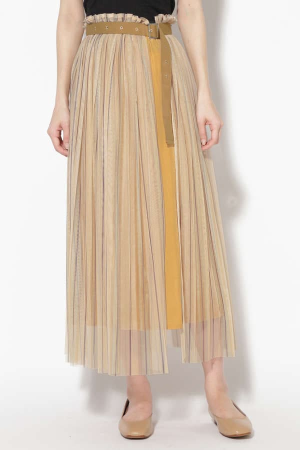 レイヤードロングスカート