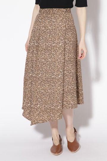 イレギュラーヘムラインロングスカート