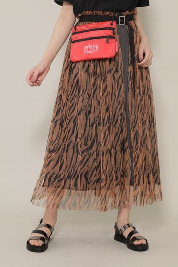 ストライププリーツレイヤードスカート