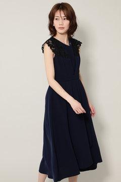 レース使いワンピースドレス